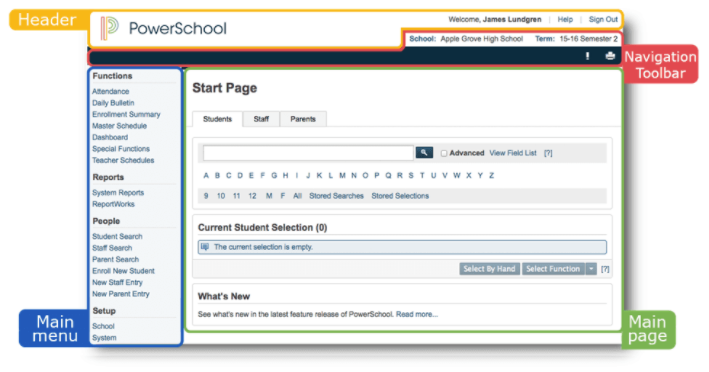Powerschool Admin Starting With The Start Page Kipp Nj Help Center